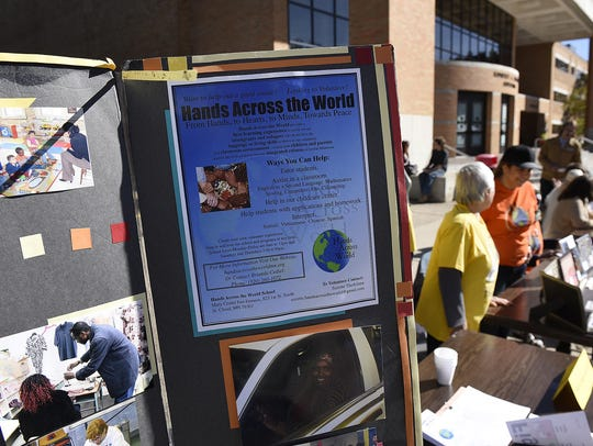 Information from many area organizations are on display