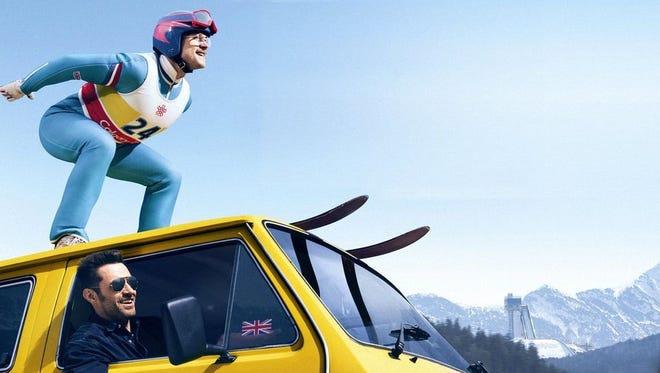 """Eddie the Eagle,"" a film about British underdog ski jumper Eddie Edwards at the 1988 Winter Olympics."