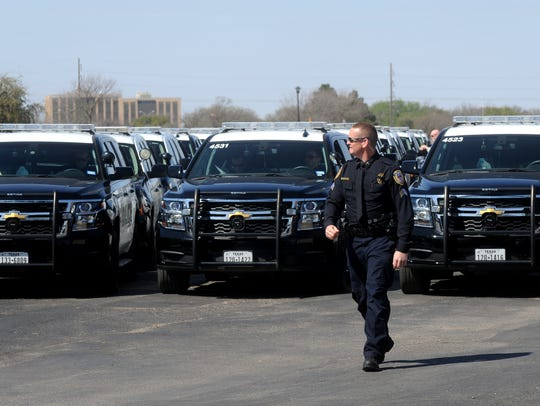 Sgt. Richie Waggoner directs the procession after the