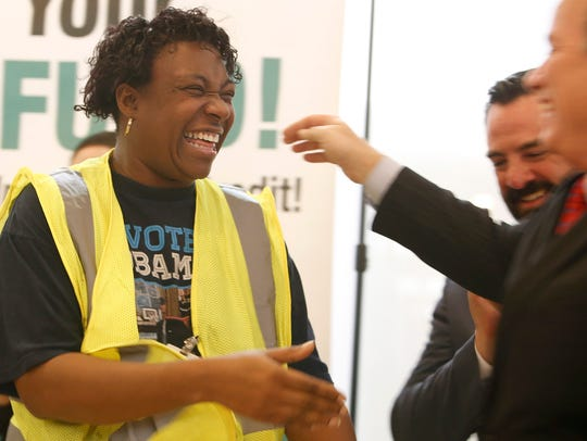 A community volunteer and Detroit Public Works employee,