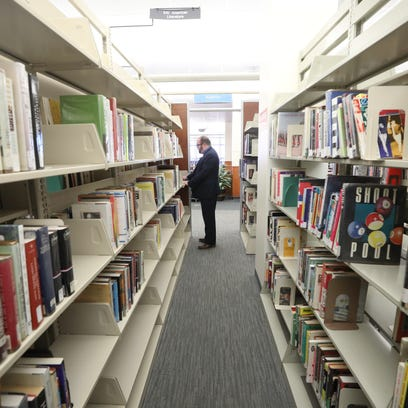 Peter Coyl, director of the Montclair Library, works