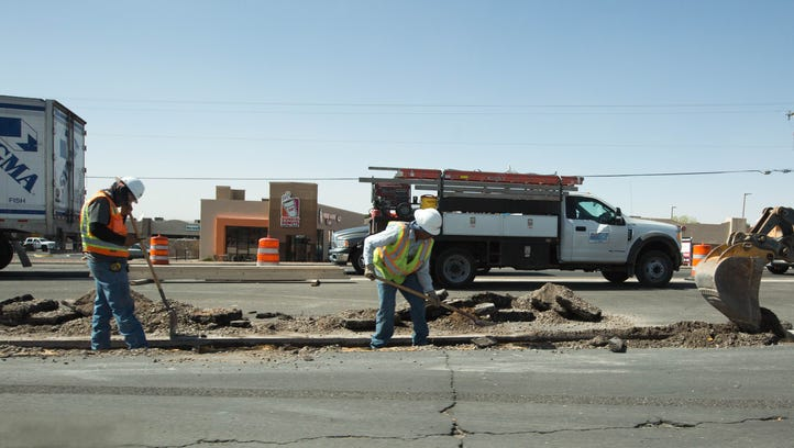 North Main roadwork nears completion at Solano; no timeline at Camino del Rex