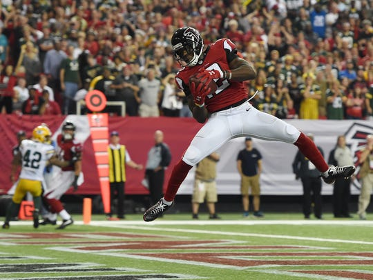 FILE - In this Oct. 30, 2016, file photo, Atlanta Falcons