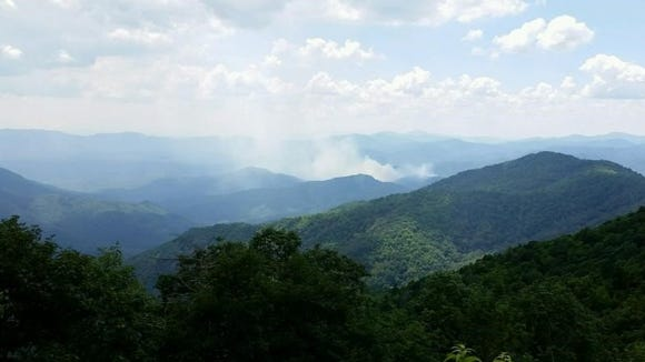 The Wolf Creek Fire in the McDowell County region of