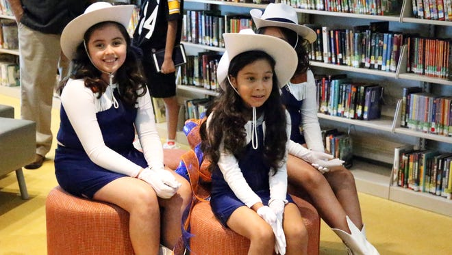 "Thomas Manor ""Wranglerettes"" were in the school's library Wednesday."