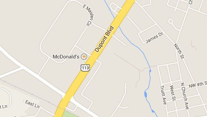 State police say pedestrian was struck while crossing U.S. 113 in front of the McDonald's restaurant.