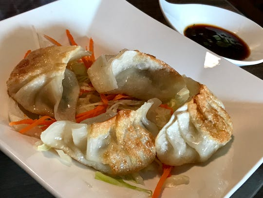Pot stickers, like everything here, are made from scratch.