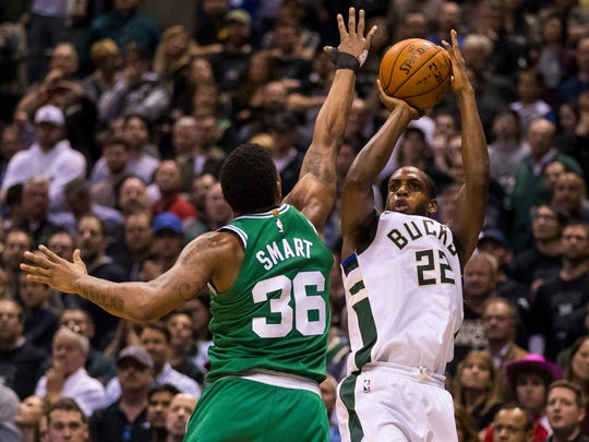 Khris Middleton, whom former coach Jason Kidd called the team's security blanket, played every game this season while averaging a career-best 20.1 points per contest.