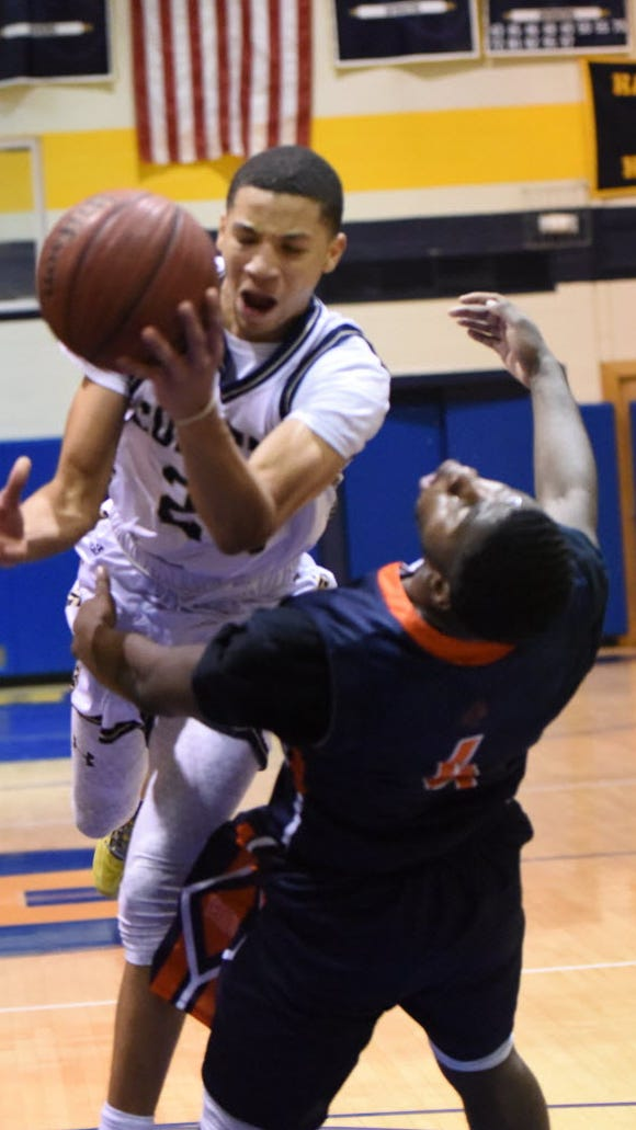 AtibaTaylor (white) and Hackensack are in first place in the Big North Conference Freedom Division.