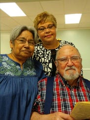 Tina Jenkins (left), Norma DeLeon and Tony Dodier