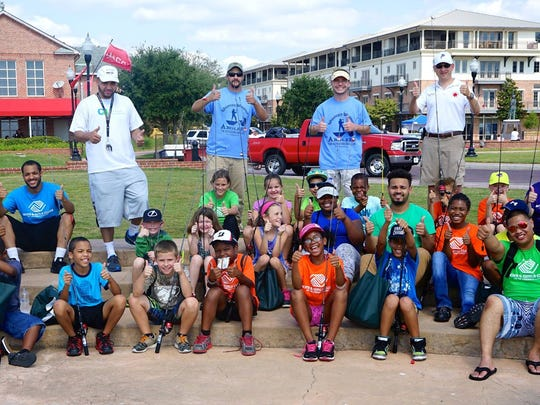 A big thumbs up went to Wounded Warrior Anglers for giving children a great day fishing along with rods and reels to keep.