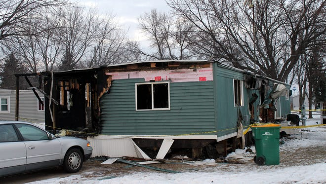 A fire destroyed a home at 28 Sunny Lane at Green Meadows trailer park in North Fond du Lac on Saturday morning.