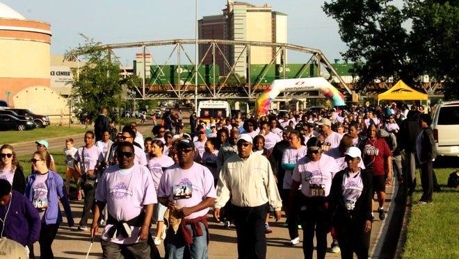 The Institute for Global Outreach's annual Walk for Humanity 5k health walk on Clyde Fant Saturday April, 11, 2015 in Shreveport,LA.