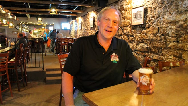 Steve Lonsway, co-owner of Stone Cellar Brewpub. Stone Cellar Brewpub will celebrate two recent brewing awards and American Craft Beer Week at the opening of its relocated Tap Room on Thursday.