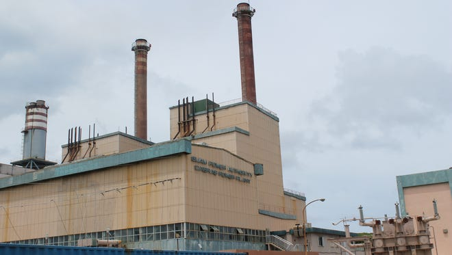 The Cabras power plant as seen Tuesday morning.