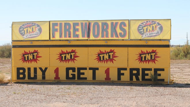 In this file photo, a fireworks stand sits on Highway 54/70. This Fourth of July, El Paso County residents will be able to set off fireworks. Otero County officials want to raise awareness on firework safety in Chaparral.