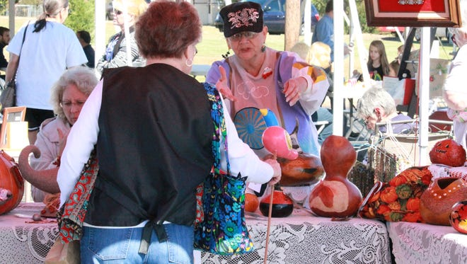 The Baxter Regional Hospital Foundation hosted a fall craft festival Friday in Mountain Home to support its four community education houses. The festival continues Saturday.
