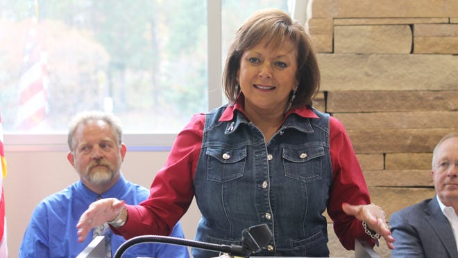 Gov. Susana Martinez spoke at Cloudcroft High School Monday afternoon to announce her plan to bring high-speed Internet to every New Mexico classroom by fall 2018.