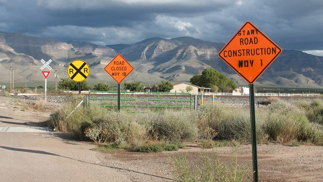 Railroad crossing on Taylor Ranch Road from U.S. Highway 54 South. Construction will begin Nov. 2 and will be completed in three weeks.