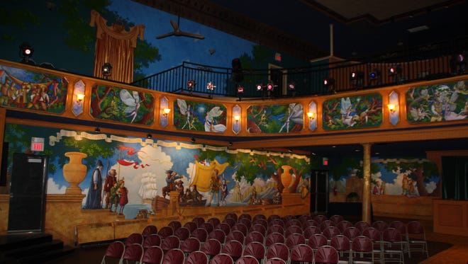 Artist Perry Arthur Kroeger has spent years painting the murals adorning the walls at the Growing Stage's historic Palace Theatre in Netcong.