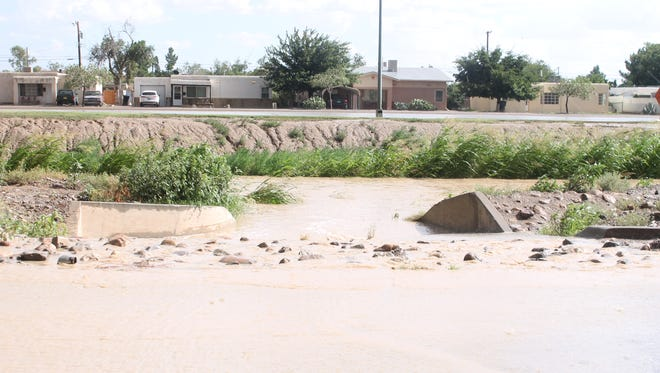 The canal on Indian Wells Road flooded after an Aug. 10 storm