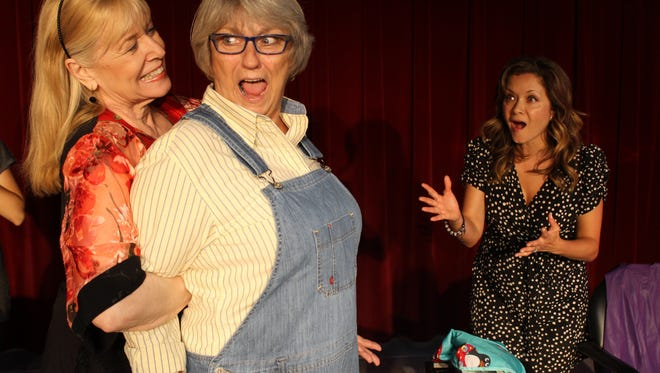 """Shirley LeMaster, Rebecca Hertsgaard, and Lee Rice are featured in the Desert Theatreworks production of """"Steel Magnolias."""""""