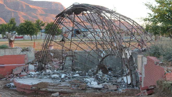 The City of Alamogordo's demolition of the Washington Park amphitheater this week surprised many  community members. A few residents voiced their dismay at the city's silence over plans to demolish the dome during Tuesday's City Commission meeting.