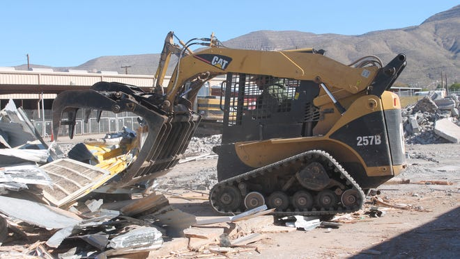 Demolition of Frontier Village  at the Otero County Fair and Rodeo Fairgrounds is underway and will take several weeks to complete.
