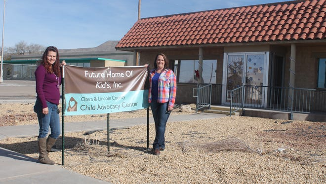 Kids Inc. Executive Assistant Staci Guerrero and Director Melanie Gilmore stand in front of the new Kids Inc. Child Advocacy Center which is now located on 1108 Cuba Ave. The center will open sometime in January.