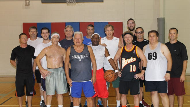 Members of the Old Fart's Basketball League in Cocoa Beach range in age from 28-85, and play together twice a week.