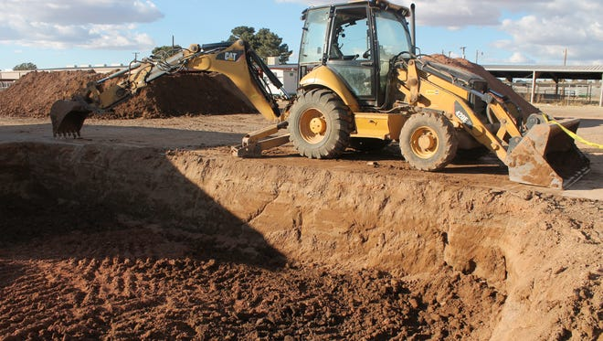 Construction is in progress at the Otero County Fair and Rodeo Fairgrounds. The project is expected to be completed in June.