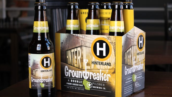 Hinterland Groundbreaker is a double pilsner.