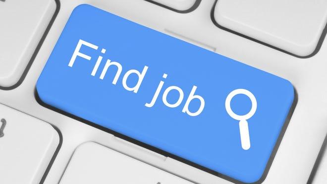 Blue find job button