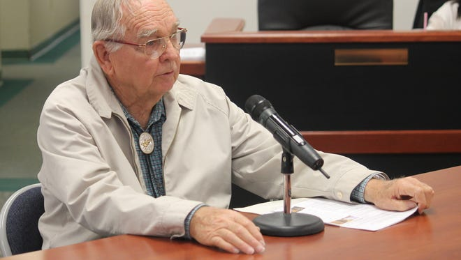 Otero County resident Paul B. Strunk requested that Otero County Commissioners maintain Butterfield Trail at their regular meeting March 10.