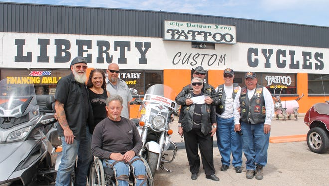 Liberty Cycles raised $3,795 during a benefit ride for Operation Wounded Warriors, which is a program of the New Mexico American Legion Riders.