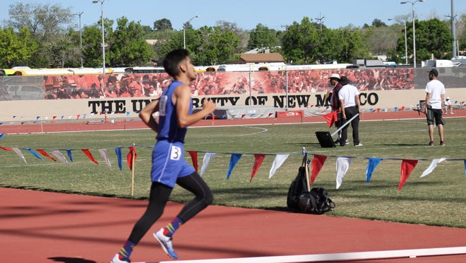Jesus Guillen of Hondo Valley High School earned a second place finish in the 3200 meter run at the State Track and Field Championships May 7.