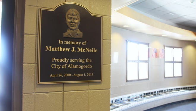 McNeile, who was a proponent of the Family Recreation Center, has a plaque dedicated in his memory at the facility's entrance.