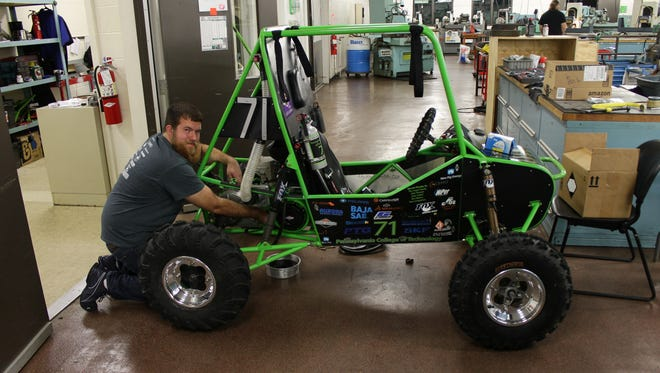 Logan Goodhart is one of seven students from Pennsylvania College of Technology  that will be competing in the Baja SAE Rochester event this weekend.