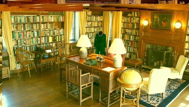 The 'Good Earth' desk in one of the two libraries in Pearl S. Buck's Perkasie home.