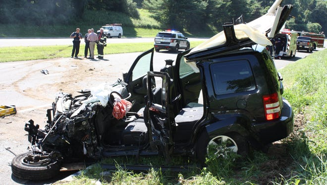 A pregnant woman suffered broken bones and cuts but no pregnancy issues after a head-on collision Tuesday on Route 15 in Sparta.