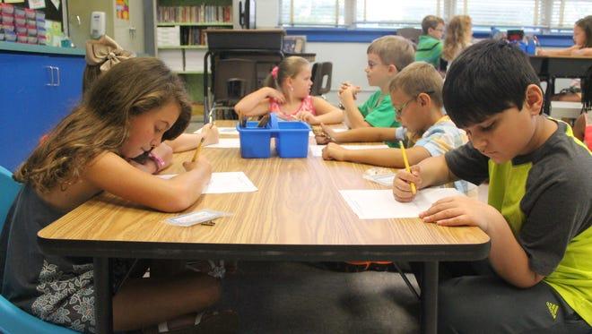 South Highland Elementary School students begin the 2016-17 school year.