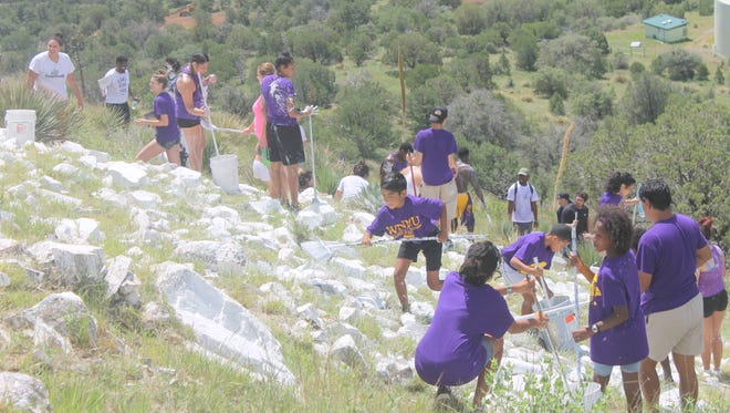Students participated in the Painting of the 'W' this past weekend which also closed out the Welcome Week for new students.