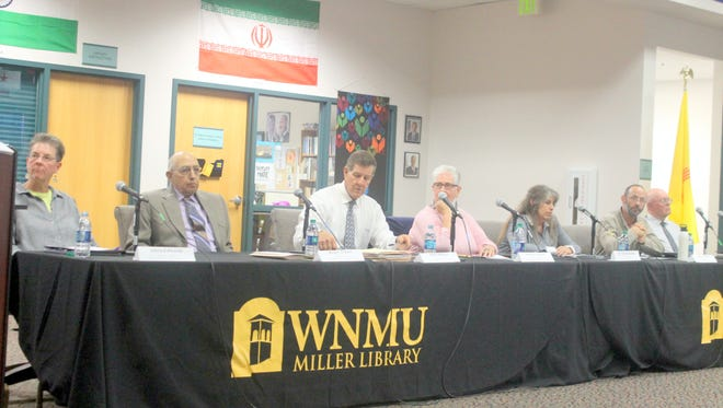 """""""Debating the Future of Grant County,"""" was held at Western New Mexico University at Miller Library. Candidates are running for three open seats on the Grant County Commission."""