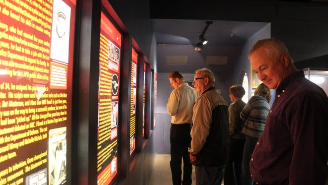Attendees of Saturday night's induction were the first to view the new Star Trek exhibit inside the museum.