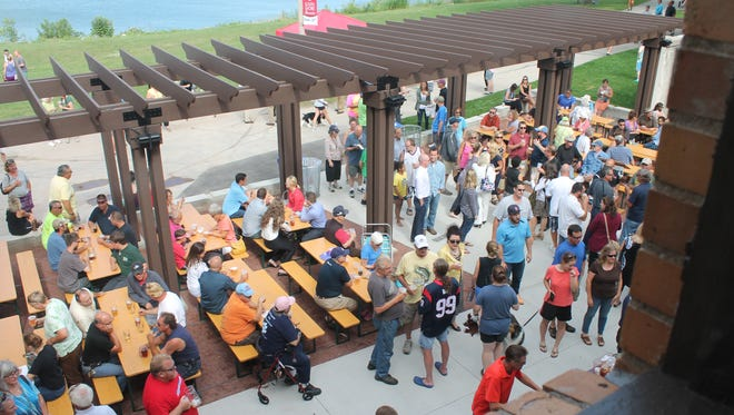 South Shore Terrace beer garden will open today, despite the forecast for snow.