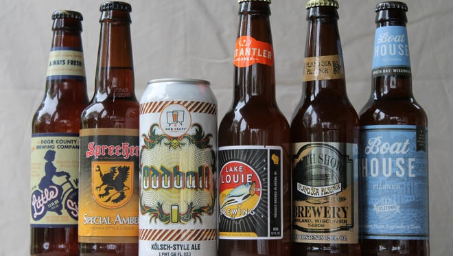 Summer beerin' with crisp, clean, refreshing beers from (left) Door County Brewing, Sprecher Brewing, MobCraft, Lake Louie Brewing, South Shore Brewery and Titletown Brewing.