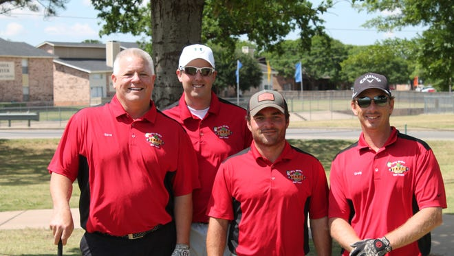 The Desk and Derrick Club's annual Spring Classic Golf Tournament was May 12. Taking first place in the first flight was the Texas Roadhouse team. They are, from left, Dave Miles, D.J. Miles, Stephen Johnson and Craig Bolles.