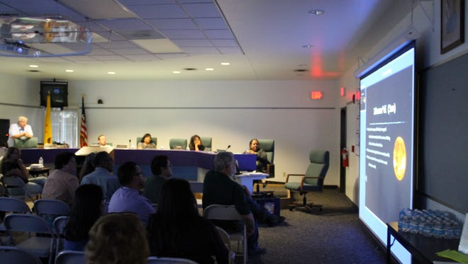 Central Consolidated School District board members watched a presentation about the solar eclipse at a meeting on Tuesday in Kirtland. Teachers and staff will use the presentation to explain culture and science about the eclipse.