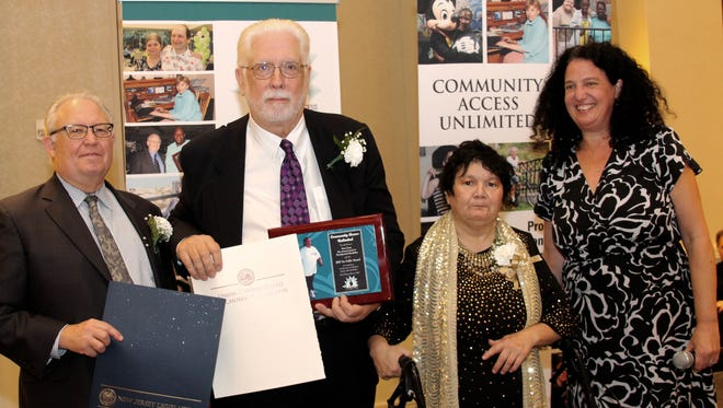 Community Access Unlimited honored Union County Freeholder Bette Jane Kowalski and Kevin Casey, executive director of the New Jersey Council on Developmental Disabilities, at its Annual Gala Dinner Dance at the Newark Liberty International Airport Marriott.