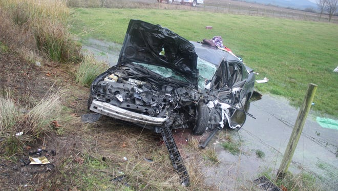 A crash Wednesday on Highway 99W left two dead and two injured.
